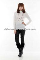 Ladies long sleeves white stripe tops