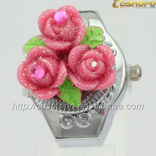NEW Manmade Rose Finger Ring Watch Fashion For Lover