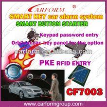 auto alarm RFID for Car Security smart button start PKE car alarm system CF7003