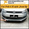 R Style FRP Front bumper lip spoiler diffusQer For VW Polo 6R