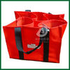 6 wine bottle bag/ wine tote bag/insulated wine bottle carrying bag