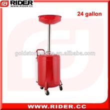 Roda- montado 24 galão( 90l) pneumático resíduos escorredor de óleo