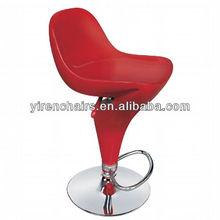BS-071 red revolving bar stool