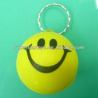 anti stress 4cm smiley face PU ball keychain