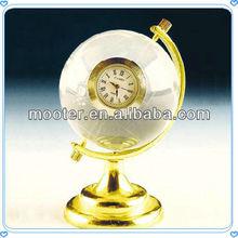 Cheap Crystal Sphere Globe Clock for Desktop Decoration
