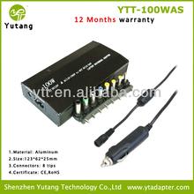 100w Aluminum multi-function ac adaptors laptop usb ac adaptors laptop manual adjustment for home and car