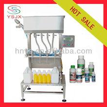semi automatic corrosive liquid filling machine 4 filler heads