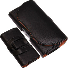 Belt Case Cover For Samsung Galaxy S3 IPHONE 5 5c 5S Clip Loop PU Leather Pouch - Black