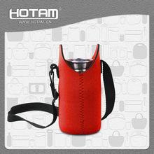 Portable neoprene water bottle cover