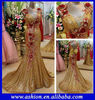 ED-1858 Stunning floral wide shoulder straps big bow back gold sequin dress designs fat ladies