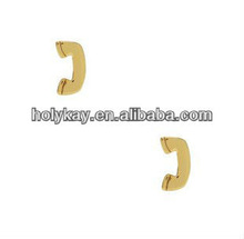 Unique design earrings,Mini size phone shape alloy earrings jewelry,special ear stud for female and male
