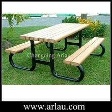 Arlau TB84 plastic wood picnic table and chairs