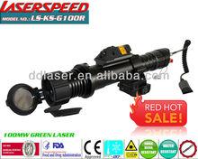 LASERSPEED/Tactical Multifunction Adjustable 100mw Green Designator + 5mw Red Dot Laser Sight