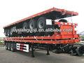 cuello de cisne china 3 ejes de aire suspensión de amortiguación para camiones de cama baja semi remolque a la venta