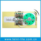 Recordable music chip for greeting card