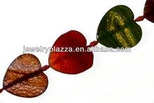 38mm peach heart agate,color stone bead
