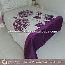 3D purple satin comforter