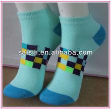 2013 Multicolor Squares jacquard ladies/ women ankle socks