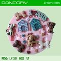 Casa/perro/hueso del molde de silicona/molde de silicona para la decoración de la torta