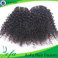 100% humano natural rizado rizado armadura del pelo negro para las mujeres