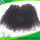 100% Natural human kinky curly hair weave for black women