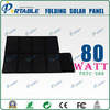 80w foldable solar laptop charger for all kinds of laptop and mobile