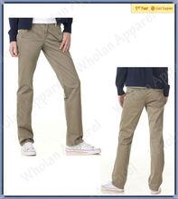 man's khaki leisure fashion slim chino pants