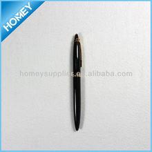 low MOQ black metal roller pen