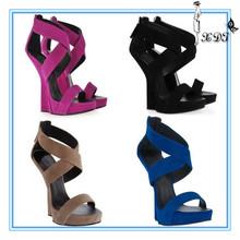 Wedges shoes woman 2014! No heel comfort women leather sandals