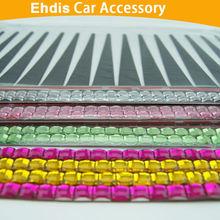 3d car headlight eyelashes car sticker car eyelashes with diamond