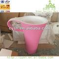 Rosa artificial pedra de mármore lavatório com pedestal