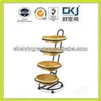CXY-4017 4 Tiers Oval Basket Merchandiser