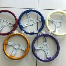 colored wood steering wheel