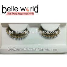 2013 new design fake eyelashes human hair eyelash