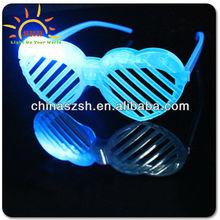 heart shape shutter sunglasses/LED shutter glasses for girl/flashing light glasses