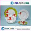 round colorful germany fine porcelain dinnerware set