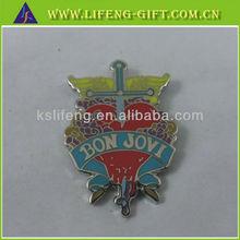 Custom Fashion Music Pins, classic pin badges, bon jovi enamel badge