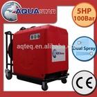 Mobile high pressure pump trailer with water mist fire extinguisher gun
