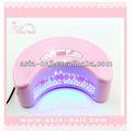 12w secador de uñas uv led de la lámpara de uñas de arte de la decoración