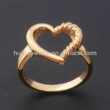 stainless steel IP Rose Gold heart finger ring