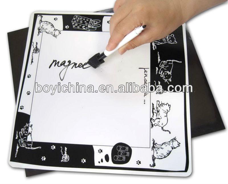 2014 customized fridge magnet whiteboard,square magnet whiteboard for promotion