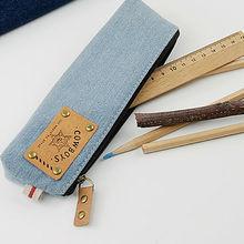 LANGUO fashion design custom pencil case jeans