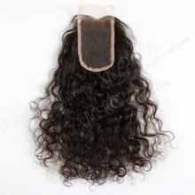 China wholesale best quality brazilian virgin molado curly hair closure piece