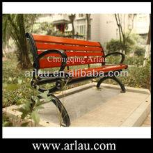 Arlau FW32 park furniture wood plastic composite WPC wood slats for cast iron bench