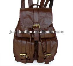 Fashionable Genuine Lether Kids Backpack # 2410
