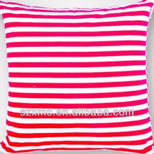 wholesale home sofa decorative red&white stripe cushion cover