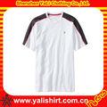 De alta calidad baratos de manga corta de color combinación transpirable de algodón deportes modelo t- shirt