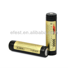 Newest Efest 18650 3000mah 3.7v protected button top rechargeable Li-ion battery(1pc)
