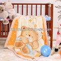 Super suave patrón de piel animal lindo del bebé de coral manta de lana