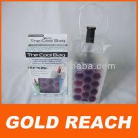 PVC Cooler Bag for Bottle Clear PVC Wine Cooler Bag